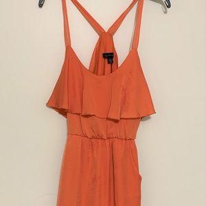 Modcloth small S City Triangles Orange dress